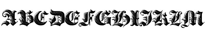 Heavy Gothik Font UPPERCASE