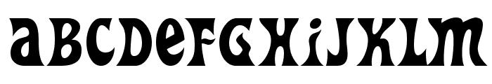Heavy Heap Font UPPERCASE