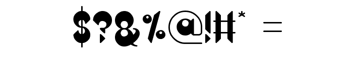 Heavy Metal Gaze Font OTHER CHARS