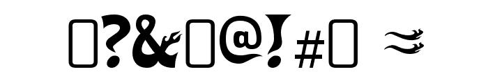 HeavyHeap-Regular Font OTHER CHARS