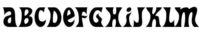 HeavyHeap-Regular Font UPPERCASE