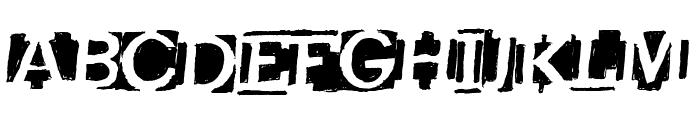 HeavyLoading Font UPPERCASE