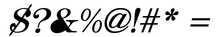 Hebrew Italic Font OTHER CHARS