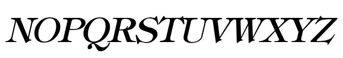 Hebrew Italic Font UPPERCASE