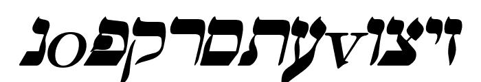 Hebrew Italic Font LOWERCASE