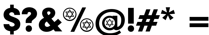 Hebrew Participants Font OTHER CHARS