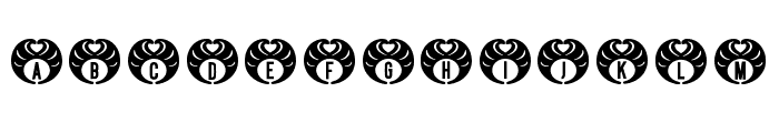 Hedhead Regular Font UPPERCASE