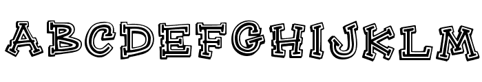HeeHaw Regular Font UPPERCASE