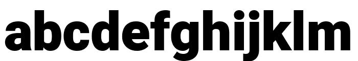 Heebo Black Font LOWERCASE
