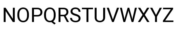 Heebo Regular Font UPPERCASE