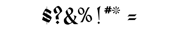 Heidelberg Regular Font OTHER CHARS