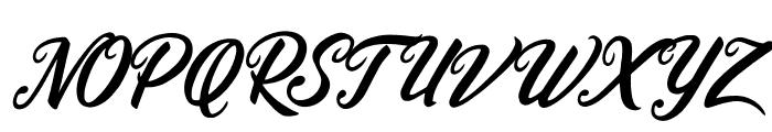 Heidy Indigo Font UPPERCASE