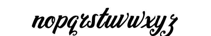 Heidy Indigo Font LOWERCASE