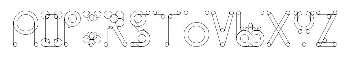 HelenBrown Outline Font UPPERCASE