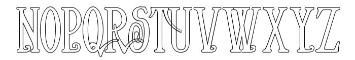 Helena-Outline Font UPPERCASE