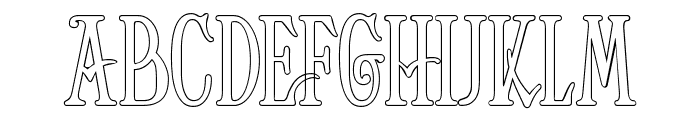Helena-Outline Font LOWERCASE