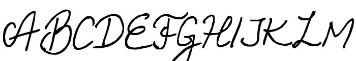 Helena Script Font UPPERCASE