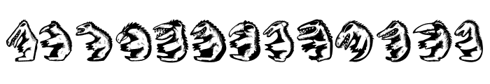Hell Beasts Regular Font LOWERCASE
