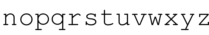 HellasCour Regular Font LOWERCASE