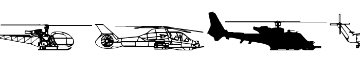 Hello Copters 2 Font OTHER CHARS