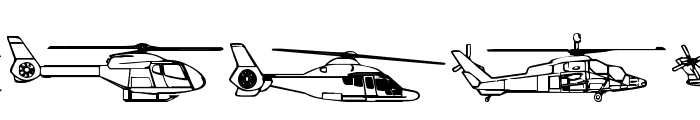 Hello Copters 2 Font UPPERCASE