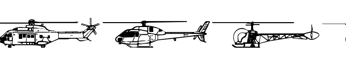 Hello Copters 2 Font LOWERCASE