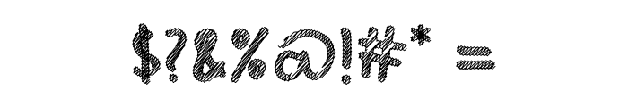Hello Scribbles Font OTHER CHARS