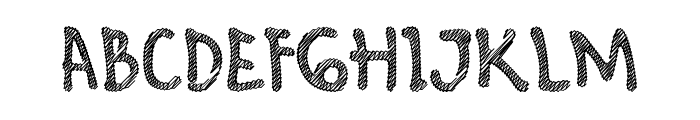 Hello Scribbles Font UPPERCASE