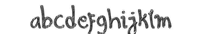 Hello Scribbles Font LOWERCASE