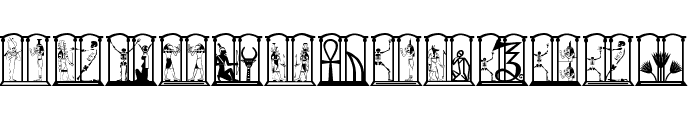 HelloCleoPetra Font UPPERCASE