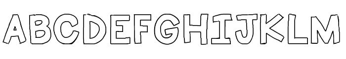 HelloFirstieBig Font UPPERCASE