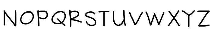 HelloHandMeDown Font UPPERCASE