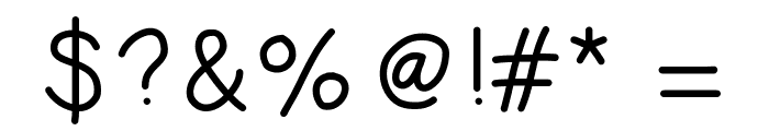 HelloJourney Font OTHER CHARS