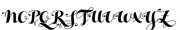 HelloScript Font UPPERCASE