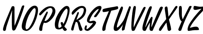 HelloTeman-Italic Font UPPERCASE