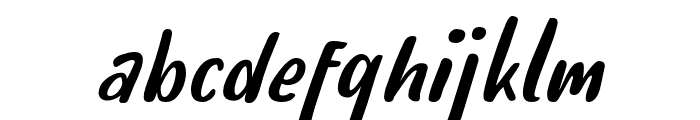 HelloTeman-Italic Font LOWERCASE