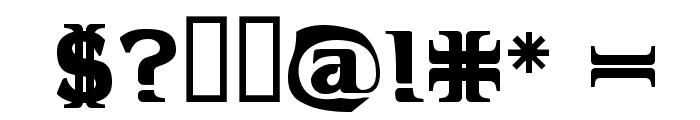 Hellraiser 3 Font OTHER CHARS