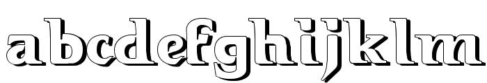 Hellraiser3 Shadow Font LOWERCASE