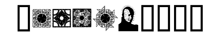 HellraiserPuzzleBoxBats Font OTHER CHARS