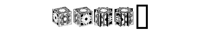 HellraiserPuzzleBoxBats Font UPPERCASE