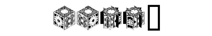 HellraiserPuzzleBoxBats Font LOWERCASE