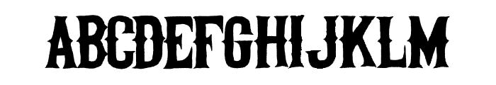 Helltown Font UPPERCASE