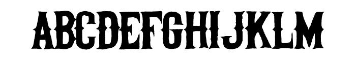Helltown Font LOWERCASE