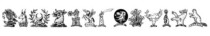 HelmbuschCrestSymbols Font UPPERCASE