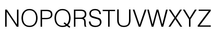 HelvLight Regular Font UPPERCASE