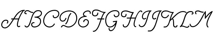 Helve Cursive Font UPPERCASE