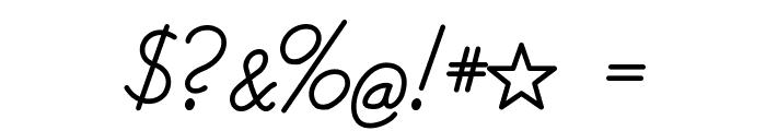 Helvetia Verbundene Font OTHER CHARS