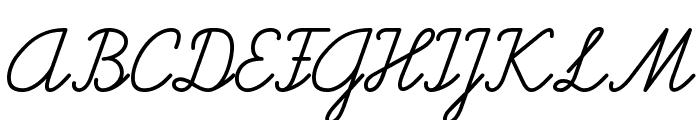 Helvetia Verbundene Font UPPERCASE