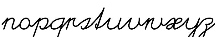 Helvetia Verbundene Font LOWERCASE
