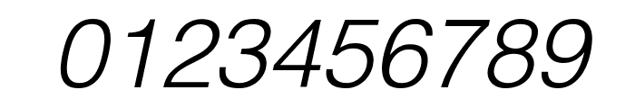 Helvetica Light Oblique Font OTHER CHARS